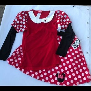 NEW 2pc Adult Disney Minnie Mouse costume size 8